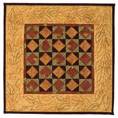 Square in a Square Miniature Quilt.  Like the quilted border with varigated thread.