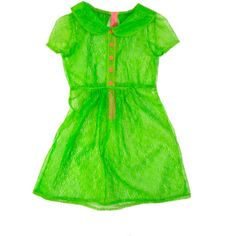 Neon Green Lace Babydoll Dress ($50) ❤ liked on Polyvore featuring dresses, babydoll dress, lace dress, neon green dress, lacy dress and baby doll lace dress