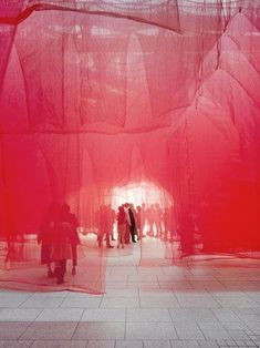 KHBT / osa_office for subversive architecture Un-veiled Installation for the Opening of Riba North . Fabric Installation, Light Art Installation, Art Installations, Installation Architecture, Illustration Ligne, Art Plastic, Instalation Art, Interactive Art, Art Textile