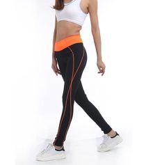 64a925b31538f Leggings Activewear Black Leggings Sexy Women Orange Leggins High Waist  Legging Active Black Workout Legging American Clothing