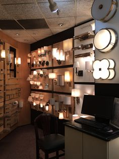 A corner of the bath accessories and lighting showroom at Hardware Designs  #HardwareDesigns #BathLighting #Lighting #bathroomsconce #Luxurybath #newjersey #NJ