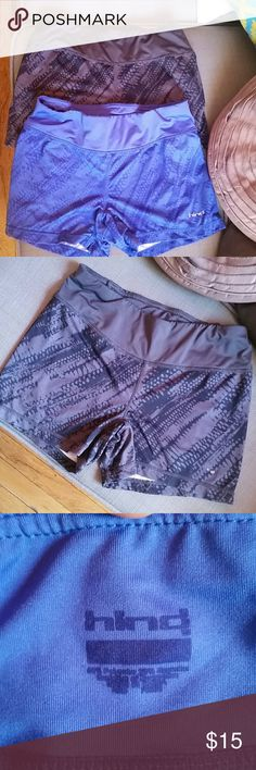 HIND Blue & Gray Shorts Bundle Size: Small Material: Spandex Great Training Shorts with pop of color and design Oldies but goodies Fair Condition / small piling Elastic waist / Fitted  Gray Hind faded Hind Shorts