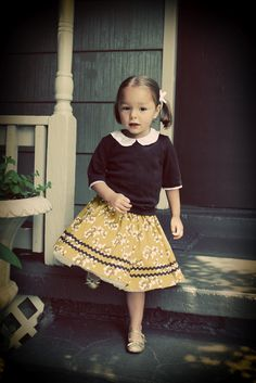 Super sweet outfit, inspired by a Little Golden Book. From Refugee Crafter: Once Upon a Thread