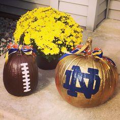 Notre Dame football pumpkins                                                                                                                                                                                 More