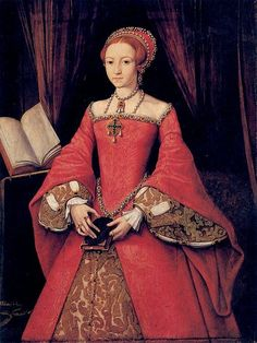 Princess Elizabeth, c. 1546-7.  Attr. to William Scrots.