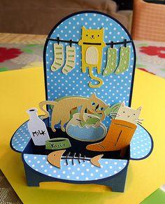 CATastrophe Card. Cricut Meow Cartridge and SVG Cuts Christmas Box Card File.