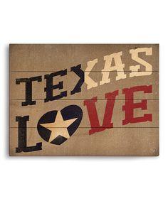 Another great find on #zulily! 'Texas Love' Wall Art #zulilyfinds