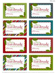 Enjoy these really fun FREE printable labels for homemade baked Christmas foods. These Christmas labels are designed by Erin Rippy of InkTreePress.com Labels are in ready to print PDF templates. Included in this collection are round labels for homemade goodies, Baked with Love, from the kitchen of and more :) ...