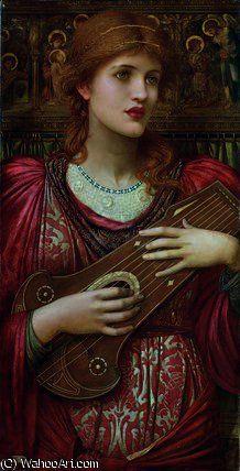 'The music faintly falling' by John Melhuish Strudwick…