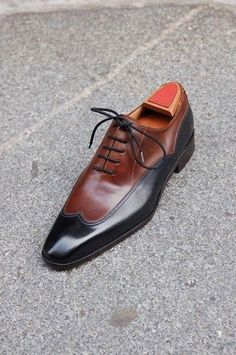 Wakeby Wolf Formal Brown & Black Wingtip