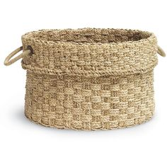 Palecek Spa Giant Basket (4,255 CNY) ❤ liked on Polyvore featuring home, home decor, small item storage, home accessories, woven baskets, weave basket, inspirational home decor, palecek and palecek baskets