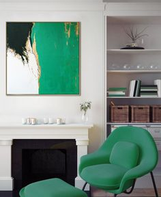 """DETAILS: * Painting name: """"Emerald green sea"""" * Artist: Martina Boycheva * Painting signed and dated with certificate of authenticity * Size: 70x70cm/ 27.6 x 27.6 in * Style: Abstract * Tech..."""