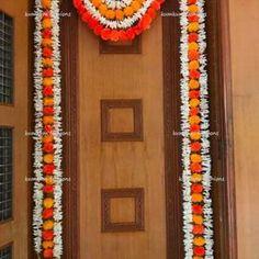 Housewarming Decorations, Diy Diwali Decorations, Home Wedding Decorations, Flower Decorations, Christmas Decorations, Door Hanging Decorations, Flower Rangoli, Flower Garlands, Durga