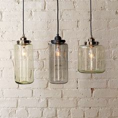 Glass Jar Pendant, West Elm $99.00