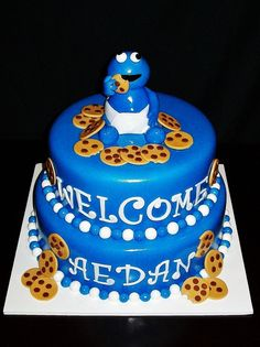 baby cookie monster cake cookie monster baby baby shower