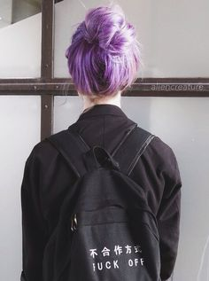 Image discovered by Ellie. Find images and videos about hair, black and grunge on We Heart It - the app to get lost in what you love. Sublime Creature, Looks Pinterest, Style Feminin, Lilac Hair, Lavender Hair, Coloured Hair, Dye My Hair, Rainbow Hair, Rainbow Pastel