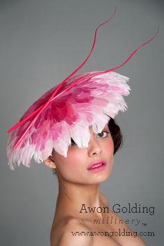 Flamingo Coolie - Awon Golding Millinery  www.awongolding.com    #hats #millinery
