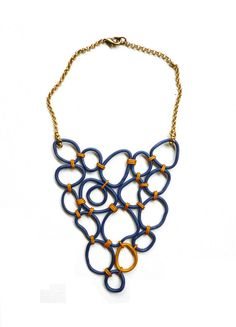 gorgeous handmade polymer clay necklace on Etsy, $75.47