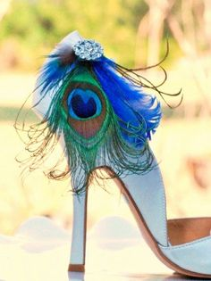 Shoe Clips Peacock - can use them with different shoes and so versatile. great idea!
