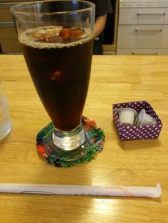 食後はアイスコーヒーいただいています。