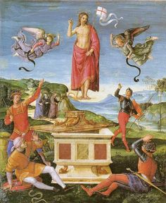 Resurrection of Christ Raffaello Sanzio (Raphael) Italian Italian High Renaissance Oil On Panel São Paulo Museum of Art, São Paulo, Brazil Famous Artists List, Famous Artist Names, Raphael Paintings, Great Paintings, Michelangelo, La Résurrection Du Christ, Jesus Christ, God Jesus, Art Ninja
