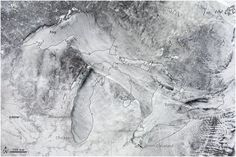 The #Arctic 'Steam Fog' Over the Great #Lakes, Seen From Space - John Metcalfe - The Atlantic Cities