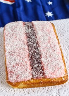 Iced Vo-Vo Cake .Find ingredients for this recipe and other Australian Food at…