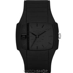 Shop for Diesel Men's Silicone Strap Solid Black Watch. Get free delivery On EVERYTHING* Overstock - Your Online Watches Store! All Black Watches, Diesel Watches For Men, Sport Watches, Cool Watches, Men's Watches, Analog Watches, Best Watch Brands, Online Watch Store, Stainless Steel Case