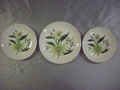 SET 3 Vintage Homer Laughlin Rhythm Desert Lily Dishes Salad Bread Plates EUC | eBay