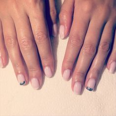 Manicure with studs