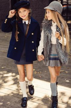 Girls dresses, school girl outfit, school uniform girls, girl o School Girl Outfit, School Uniform Girls, School Outfits, Kids Outfits, Cute Outfits, School Uniforms, Mode Bcbg, Moda Kids, Little Kid Fashion
