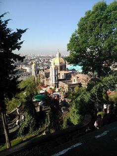 Basílica antigua de Ntra. Sra. de Guadalupe, México (vista desde el cerrito)
