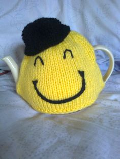 Mr Happy Tea Cosy, to brighten up your dull day.