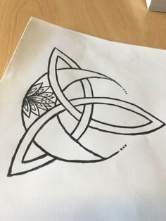 Celtic knot, moon, mandala tattoo - own design diy tattoo - diy tattoo images - diy tattoo ideas - d Mandala Tattoo Design, Dotwork Tattoo Mandala, Tattoo Designs, Body Art Tattoos, Tattoo Drawings, Small Tattoos, Faith Tattoos, Quote Tattoos, Music Tattoos