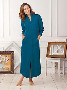 0db334f6c0 Women s Zip-Front Sweatshirt Robe