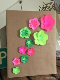 Easy Paper Flowers Gift Wrapping