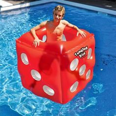 Swimline Tumbling Dice Inflatable Cube Ride On Swimming Pool Float, Red Inflatable Pool Toys, Inflatable Float, Cute Pool Floats, Pool Rafts, Pose, Pool Ideas, Fun Ideas, Party Ideas, Classic Rock