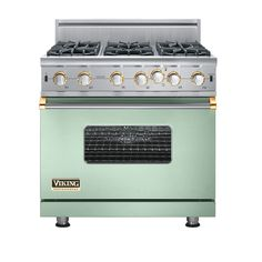Viking stove - mint and gold
