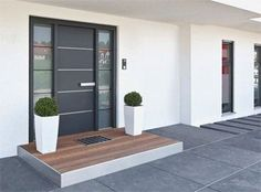 Need a new garden or home design? You're in the right place for decoration and remodeling ideas.Here you can find interior and exterior design, front and back yard layout ideas. Modern Entrance Door, Modern Front Door, Front Door Entrance, House Front Door, House Doors, House Entrance, Modern Exterior, Exterior Design, The Doors