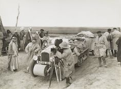 Members of the Trans-Asiatic Expedition filming in Baghdad. 1930s - Baghdad, Iraq.***