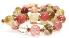 Natural Cherry Quartz and Crystals Necklace | AyaDesigns - Jewelry on ArtFire