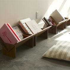 Slotted System Bookcase - Natural Walnut