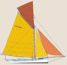 """L'Hirondelle"",  French, La Rochelle Oyster Smack Laser Cut Frames | Model Yacht World"