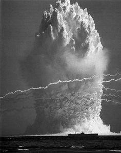 Hardtack Umbrella underwater nuclear test 8 June 1958 (GMT), Enewetak lagoon Yield: 8 kt.