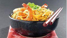 Linguine aux crevettes à l'orientale