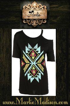 Aztec Temptress top! http://www.marliemadison.com/tops/aztec-temptress-top