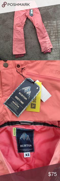 never worn Burton WB society pant in coraline, XS Burton ski pants, snowboard pants, snow pants, signature fit light warmth Burton Pants