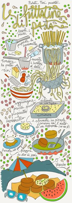 frittatine napoli naples illustrated recipe food illustration