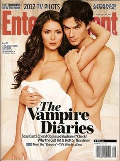 Entertainment Weekly,Vampire Diaries,Nina Dobrev,Ian Somerhalder,Feb 2012~NEW