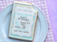 Cómo hacer la galleta de azúcar invitaciones de la fiesta - Tutorial - Cake Centrales